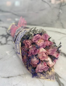 Ebru Sanatlı Lila Pembe Güller (Exclusive Collection)  çiçek gönder