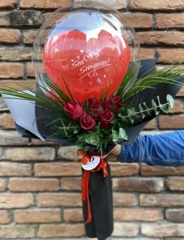 Balon Gül Buketi   çiçek gönder