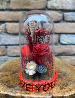 Kırmızı Solmayan Gül  çiçek gönder