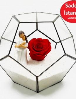 Geometrik Teraryum  Canım Sevgilim   çiçek gönder
