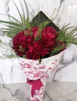 Ebru Sanatlı Fuşya Şakayık  çiçek gönder