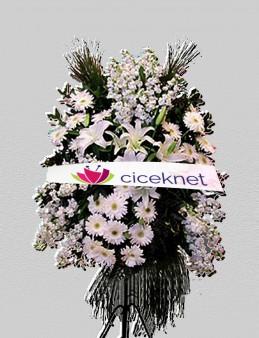 Beyazlı Ferforje Aranjman  çiçek gönder