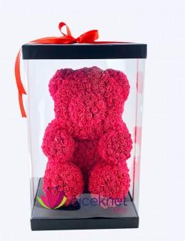 Teddy Love (Kırmızı)  Ömürlük Bir Hediye  çiçek gönder