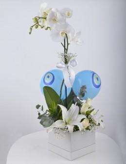 Bir Tek Sen... Beyaz Orkide Çiçeği  çiçek gönder