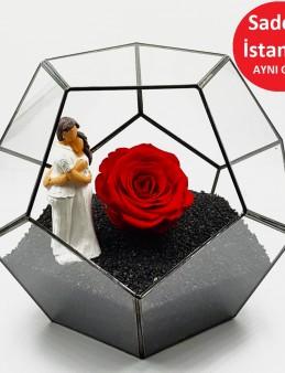 Geometrik Teraryum Canım Sevgilim Siyah İnci  çiçek gönder