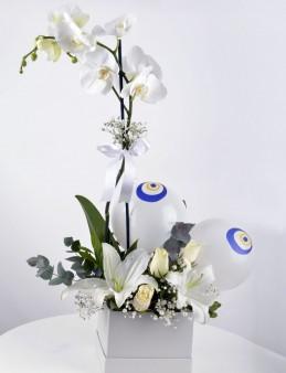 Tek Dileğim Beyaz Orkide Çiçeği  çiçek gönder