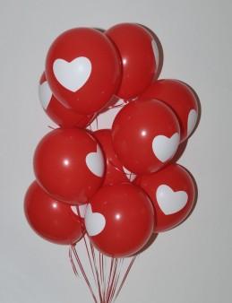 Kalp Desenli Balon Buketi   çiçek gönder