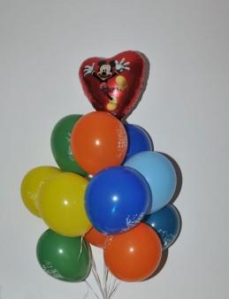 Micky'li Uçan Balon Buketi  çiçek gönder