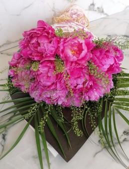 Ebru Sanatlı Pembe Şakayık  çiçek gönder