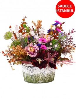 Dekoratif Kuru Çiçek Aranjmanı Aranjmanlar çiçek gönder