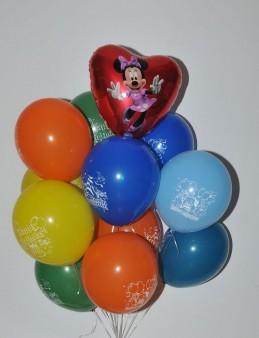 Micky'li Happy Birthday Uçan Balon Buketi  çiçek gönder