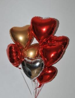 Renkli Kalpler 8 Adet Folyolu Uçan Balon  çiçek gönder