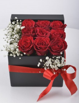 Seni Çok Seviyorum Hediyelik Kutuda Kırmızı Güller  çiçek gönder
