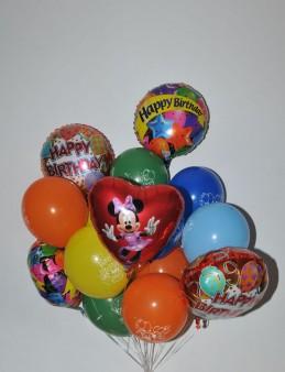 Renkli Happy Birthday Balon Buketi 7  çiçek gönder