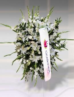Beyaz Çiçekli Ferforje  çiçek gönder