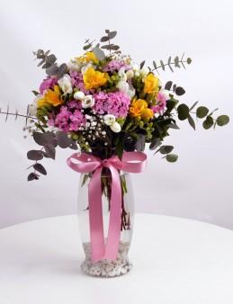 Yaz Sıcağı Kokulu Çiçek Arajmanı  çiçek gönder