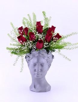Helen Saksıda 11 Kırmızı Gül  çiçek gönder
