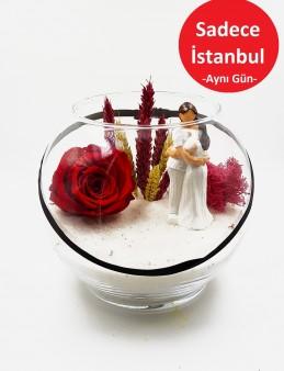 Solmayan Gül Özel Tasarım Teraryum  çiçek gönder