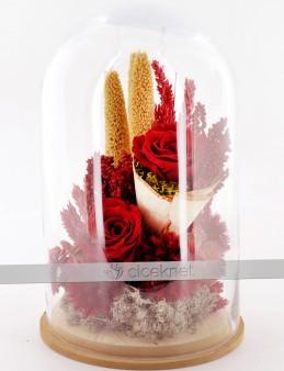 Aşkımız Yaşasın Kırmızı Solmayan Güller  çiçek gönder