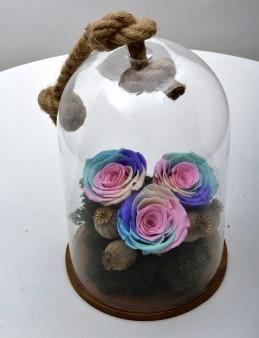 Aşkını Gökyüzüne Yazdım Solmayan Renkli Güller  çiçek gönder