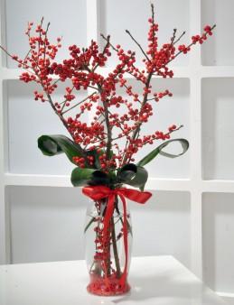 Yılbaşına Özel İlex Çiçek Aranjmanı  çiçek gönder