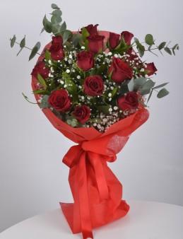 Buket 15 Kırmızı Gül  çiçek gönder