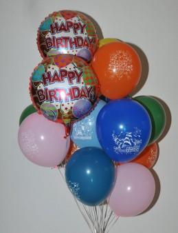Renkli Happy Birthday Balon Buketi 2  çiçek gönder