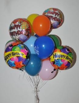 Renkli Happy Birthday Balon Buketi 3  çiçek gönder