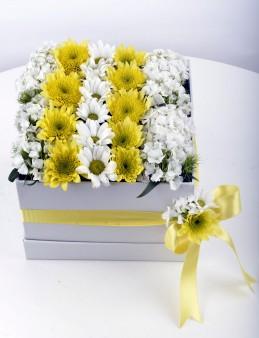 Özel Kutuda Kır Çiçekleri  çiçek gönder