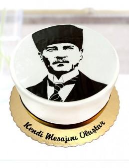 M. Kemal Atatürk Portresi Pastası  çiçek gönder