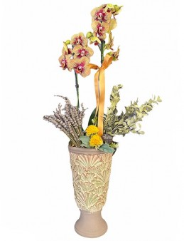 Özel Tasarım Vazoda Özel Renkli Orkide Orkideler çiçek gönder