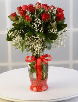 Kalpten Bağlıyım Kırmızı Güller  çiçek gönder