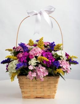 Çiçekçi Sepetinde Kır Çiçeği Arajmanı  çiçek gönder