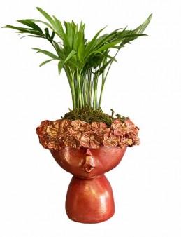 Çiçekçi Kız Saksıda Chamadore  çiçek gönder