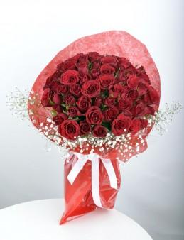 Seni Seviyorum 51 Adet Kırmızı Gül Buketi  çiçek gönder