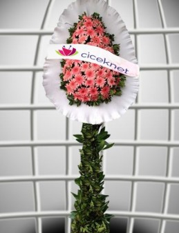 Pembe Gerberalı Ayaklı Sepet  çiçek gönder