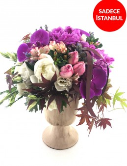 Dünya nın En Kıymetli Şakayıklı Çiçek Arajmanı  çiçek gönder