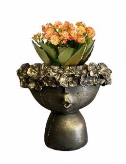 Çiçekçi Kız Saksıda Kalanchoe Saksı Çiçekleri çiçek gönder