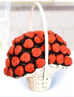 Gül Kek Sepeti  çiçek gönder