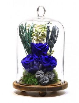 Kaspsül Cam Vazoda Solmayan Güller  çiçek gönder