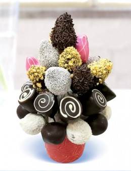 Muzlu Çilekli  çiçek gönder