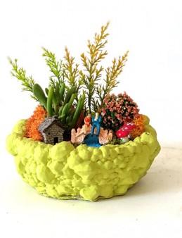 Beton Saksıda Sukulentler  çiçek gönder