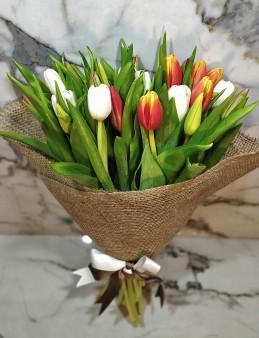Rengarenk Lale Buketi  çiçek gönder