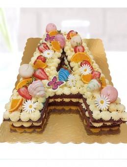 Kişiye Özel Harf Pasta  çiçek gönder