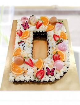 İstediğiniz Harf Pasta  çiçek gönder