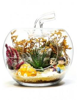 Yapay Bitkili Teraryum   çiçek gönder