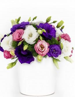 Rengarenk Lisyantuslu Çiçek Aranjmanı  çiçek gönder