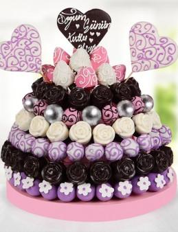 Purple Happy Day Doğum Günü Pastası  çiçek gönder