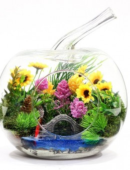 Papatya Bahçem Teraryum Aranjmanı  çiçek gönder
