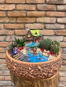 Minyatür Bahçe Teraryum  çiçek gönder